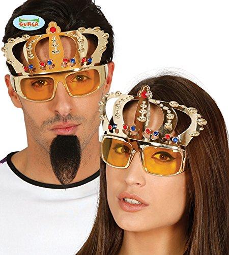 Fiestas Guirca Gläser mit Gold und Silber King Queen Krone