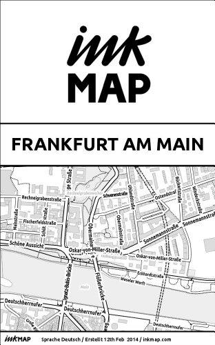 Inkmap Frankfurt am Main - Karten für eReader, Sehenswürdigkeiten, Kultur, Ausgehen (German)