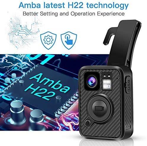 BOBLOV F1 2K 1440P Body Mounted Camera 32G WiFi Version GPS 8-10H Recording Body Worn Cam .66 inch LCD Screen Big Button for Recording