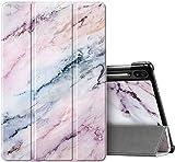 Fintie Hülle für Samsung Galaxy Tab S6 10.5 SM-T860/T865 2019 (Kompatibel mit S Pen kabelloser Ladefunktion) - Ultra Schlank Kunstleder Schutzhülle mit Auto Schlaf/Wach Funktion, Marmor Rosa