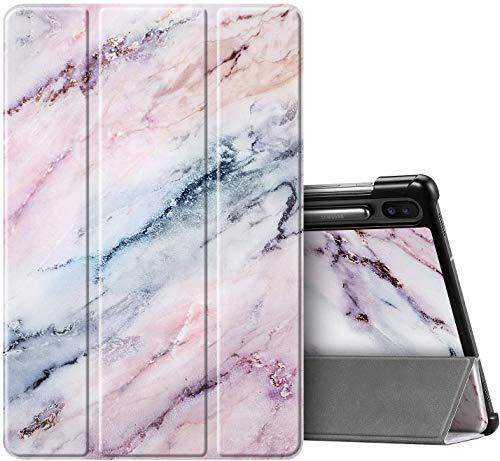 FINTIE Custodia per Samsung Galaxy Tab S6 10.5  2019 (SM-T860  T865) [Supporta S Pen Wireless Charging] - Ultra Sottile Leggero Cover Protettiva Case con Funzione Sveglia Sonno, (Z-Marble Rosa)