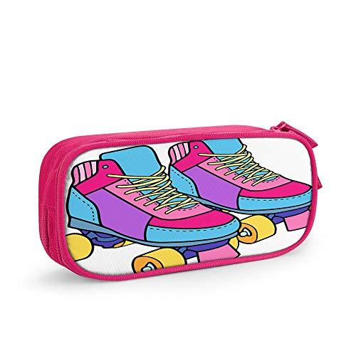 Nicokee Roller Derby Skates Estuche para lápices, equipo de calzado colorido, actividades...