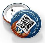 QR4G.com GPS: Chapa con Tecnología QR GPS para niños y mayores