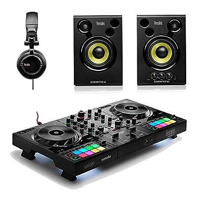 Hercules Inpulse 500 DJ Controller Serato Tidal Streaming Bundle inc Monitor Speaker