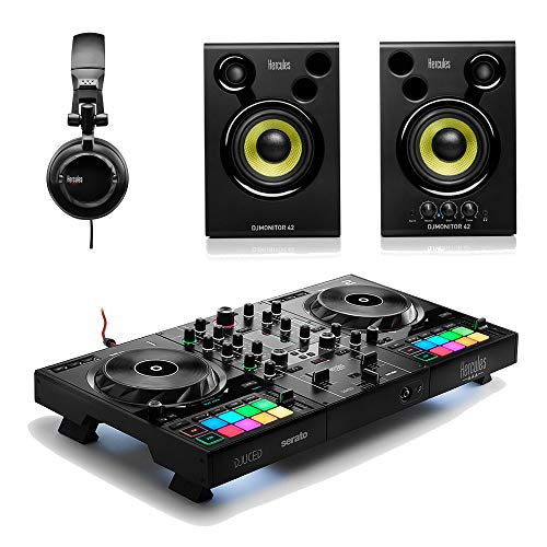Hercules Inpulse 500 DJ Controlador Serato Tidal Streaming Bundle inc Monitor Altavoz