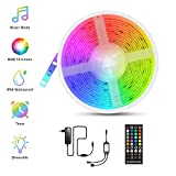 LED Ruban Musical, Fansteck Bande LED 5M 5050 RGB IP65 Lumière Multicolore Bandeau...
