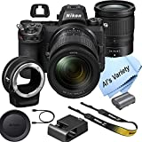 Nikon Z7 FX-Format Mirrorless Camera Body with 24-70mm Lens+ Mount Adapter FTZ