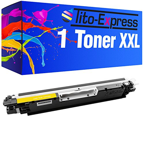 Tito-Express Platinum Serie 1 Toner cartridge XXL Yellow compatibel met HP CE312A 126A Color Laserjet Pro CP1020 CP1021 CP1022 CP1023 CP1025 CP1025NW CP1026NW CP1027NW CP1028NW CP1025 CP1025NW