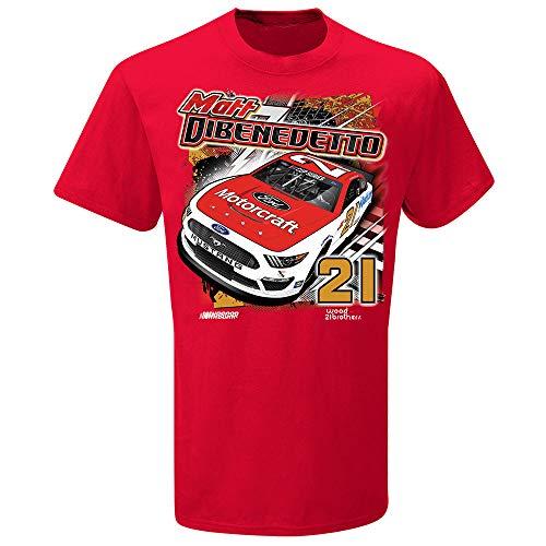 SMI Properties Matt DiBenedetto 2020 Backstretch #21 T-Shirt Red (Large)