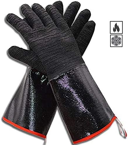 Grill BBQ Gloves 932 Heat Resistant Waterproof Oven Gloves 14 Insulated Cooking Barbecue Gloves product image