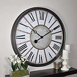 FirsTime & Co. Roman Wall Clock, 29, Oil Rubbed Bronze