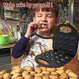 Creatore di stampi per biscotti di noce, Creatore di torte di noci elettrico Mini Cake Pop Maker Automatico Mini dado Waffle Macchina per il pane Panino di ferro Tostapane Grill elettrico Spina UE