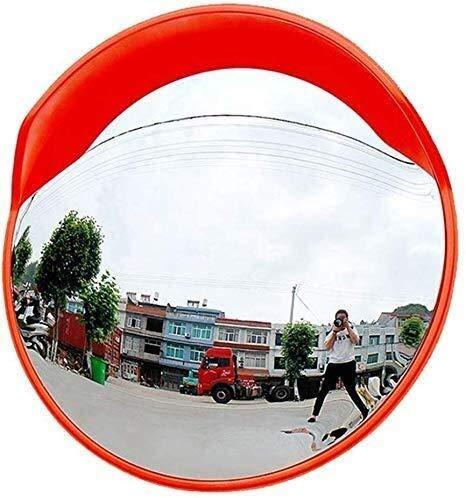 Hfyg Traffic Mirror Veiligheidsspiegel High-Definition Oranje Convex Panoramische Spiegel, Hd Grote Kijkhoek, Ronde Anti-Diefstal Supermarkt Verkeer Spiegel 80Cm