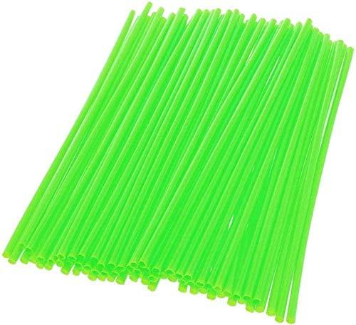 Lvcuyy Cubreradios para moto 72 piezas radio Skin Skin Sweat bici radios abrigos de piel cubre cubiertas – Montaje de 19 a 21 pulgadas ruedas de radio (48 cm a 53 cm) – hierba verde