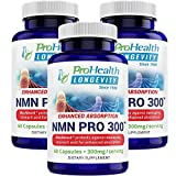 ProHealth NMN Pro 300 Enhanced Absorption 3-Pack (300 mg per 2 Capsule Serving, 60 Capsules per Bottle) Nicotinamide Mononucleotide