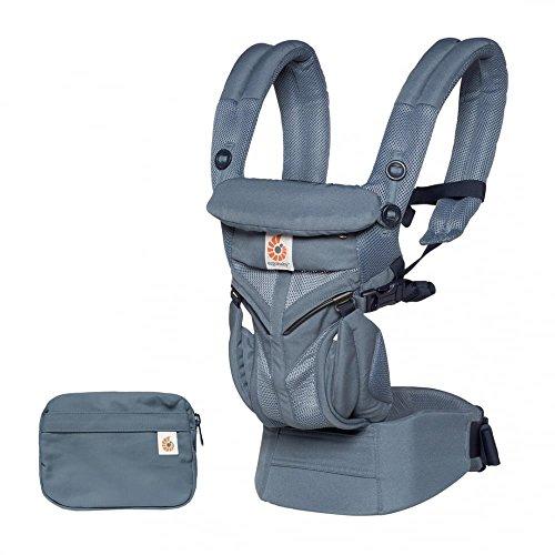 Ergobaby Sac à dos ergonomique Omni 360 Cool Air Mesh 4 positions de portage (Bleu Oxford)