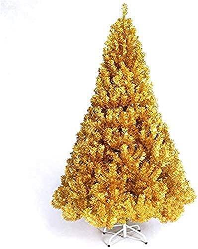 LANLANLife Majsterkowanie Choinka Szyfrowanie Naga Drzewo Złota Choinka Z Składaną Metalową Ramką Choinki Żywy pokój (Color : Gold Polygon 35g, Size : 180cm)
