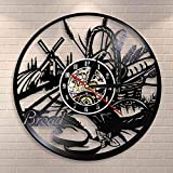 TZMR Pan Trigo Pared Arte Reloj de Pared panadería Logo pastelería decoración de...