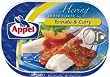 Appel Heringsfilets Tomate & Curry, 10er Pack Konserven, Fisch in Tomatensauce mit Curry