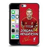 Head Case Designs Licenciado Oficialmente Liverpool Football Club Jordan Henderson 2019/20 Primer Equipo Grupo 1 Funda de Gel Negro Compatible con Apple iPhone 5 / iPhone 5s / iPhone SE 2016