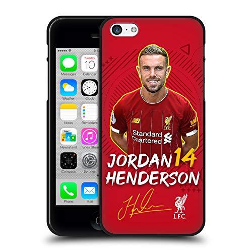 Oficial Liverpool Football Club Jordan Henderson 2019/20 Primer Equipo Grupo 1 Funda de Gel Negro Compatible con Apple iPhone 5 / iPhone 5s / iPhone SE 2016