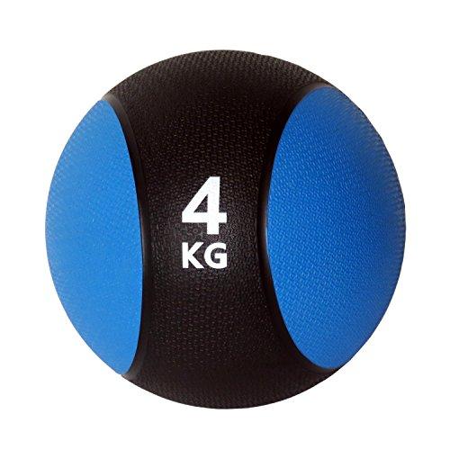 Unibest Medizinball Gummimedizinball Fitnessball Gymnastikball Gewicht 1kg-6kg - blau