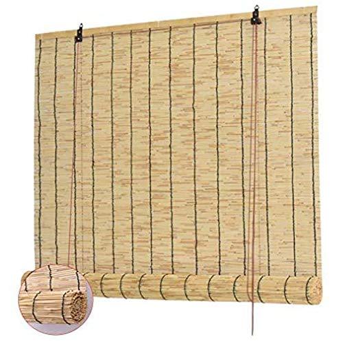 WZRIOP Estores de Bambú,Cortina de Caña, Tejido a Mano, Decoración para Exteriores y Patio,Persiana Estor de bambú para Interiores, para Puertas/Ventanas/Balcones(150x280cm/59x112in)