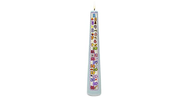 Celebration Candles New Contemporary 1-21 Year Countdown Numbered Birthday Candle Blue C21B