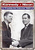 Kennedy Nixon Debate 金属板ブリキ看板警告サイン注意サイン表示パネル情報サイン金属安全サイン