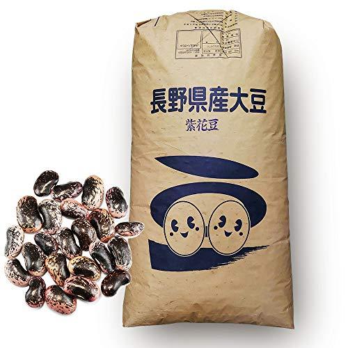 紫花豆(群馬県嬬恋村産)高原花豆(むらさきはなまめ)乾物豆類 おせち料理などの煮豆、甘煮、甘納豆などに (業務用25Kg)