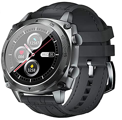 Bysion Smart Watch Men, IP68 Waterproof Pedometer, Heart Rate Monitor, Sleep Monitor Music Control, 1.3 Inch Touch Color Display, Fitness Watch