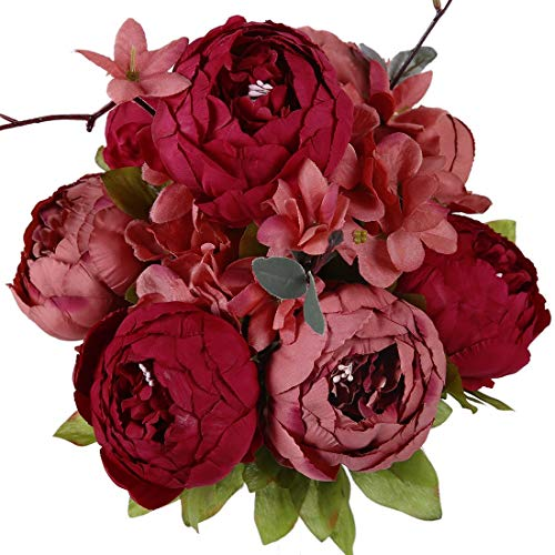 Best artificial flowers orange and burgundy for 2021