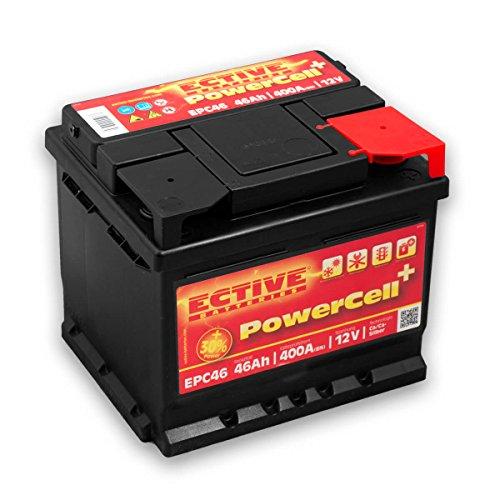 Preisvergleich Produktbild ECTIVE 46Ah 400A EPC-Serie 12V Autobatterie in 8 Varianten: 46Ah - 100Ah (wartungsfrei)
