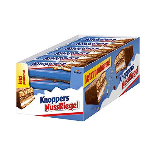Knoppers NussRiegel – 24er Packung (24 x 40g) – der erste Riegel auf Knoppers Art