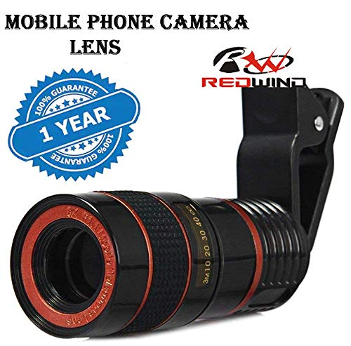 REDWIND 8X Zoom Lens, DSLR Blur Background Effect, Telephoto Lens Adjustable, HD Focus Telescope Lens for Latest Smarphone