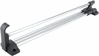 Yosoo Heavy Duty Retractable Wardrobe Closet Pull Out Rod Clothes Hanger Towel Rail/Extending Rail/Storage Organiser Polished Chorme (30cm/ 11.8 Inches)
