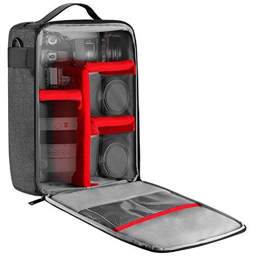 Neewer NW140S Estuche impermeable cámara y lente almacenamiento, 8,7x5,9x12,6 pulgadas/ 22x15x32 cm...
