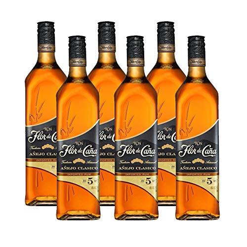 Ron Flor de Caña 5 años de 70 cl - D.O. Nicaragua - Bodegas Osborne (Pack de 6 botellas)