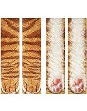 Eurobuy - Calcetines de animal con impresión digital 3D para gato, perro, pie de pezuña, calcetines para adultos