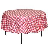 MATENG 10 Pack Premium Round Plastic Checkered BBQ...