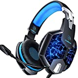 YINSAN PS4 Headset Gaming Headset for Xbox One, 3.5mm Wired 7 LED Lights