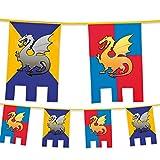 6 m caballeros medievales y dragones banderines de Fiesta de Juego de Tronos Medieval decorativa para colgar de la bandera de casta justas Diseño de banderas de países