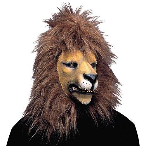 NET TOYS Löwen Maske Tiermaske Löwe Löwenmaske Faschingsmasken Großkatzen Maske Raubtier Raubtiermasken Fasnacht Fasnet