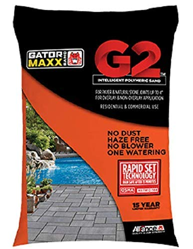 """Alliance Gator Maxx G2 Intelligent Polymeric Sand for Paver and Natural Stone Joints UP to 4""""(Diamond Black) 50 Ib Bag"""