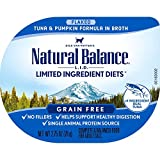 Natural Balance L.I.D. Limited Ingredient Diets Wet Cat Food, Tuna & Pumpkin Formula in Broth, 2.75 Ounce Cup (Pack of 24)