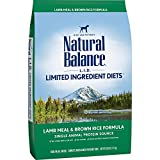 Natural Balance L.I.D. Limited Ingredient Diets Dry Dog Food with Grains, Lamb Meal & Brown Rice Formula, 28 Pounds