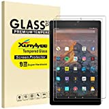 [2 Pack] XunyLyee Screen Protector for Fire HD 10/Fire HD 10 Kids Edition, [2.5D Round Edges] Tempered Glass Film for Fire HD 10 Tablet 10.1 Inch [7th Generation/9th Generation] [Easy Installation]