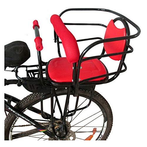 JKNM Asiento Trasero de Bicicleta para niños con reposabrazos y Pedales, portaequipajes de Seguridad Universal, Silla de Bicicleta para niños, Asiento con Asiento