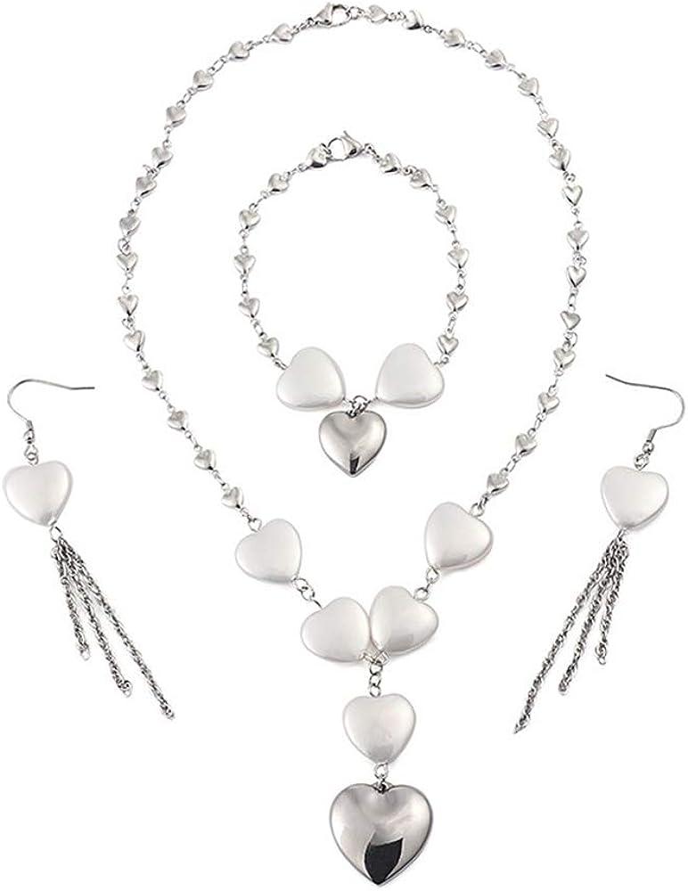 PAMTIER OFFicial Women's Stainless Steel Under blast sales Neck Earrings Heart-Shaped Shell
