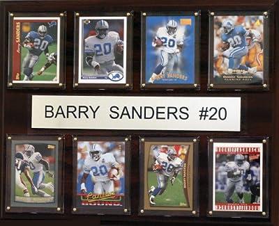 NFL Detroit Lions Barry Sanders 8 Card Plaque